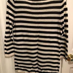 LOFT Tops - LOFT Black and White Striped Sweater